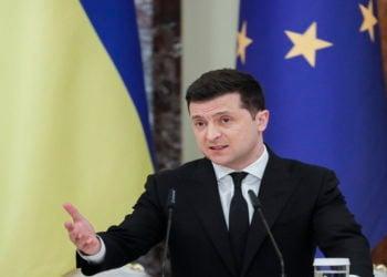 O Βολοντίμιρ Ζελένσκι (Φωτ.: ΑΠΕ-ΜΠΕ/ EPA/ Sergey Dolzhenko)