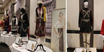Η έκθεση με παραδοσιακές φορεσιές στο Σίδνεϊ (φωτ.: The Greek Herald/ Αντριάνα Σίμος)