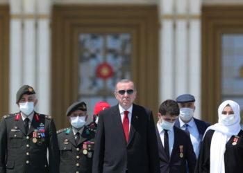 Ο πρόεδρος της Τουρκίας σε εκδηλώσεις για την επέτειο από το αποτυχημένο πραξικόπημα του 2016 (φωτ. αρχείου: AΠΕ-ΜΠΕ/ Τουρκικό Γραφείο Τύπου του Προέδρου)