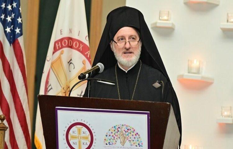 Ο Αρχιεπίσκοπος Αμερικής Ελπιδοφόρος (φωτ. αρχείου: ΑΠΕ-ΜΠΕ)