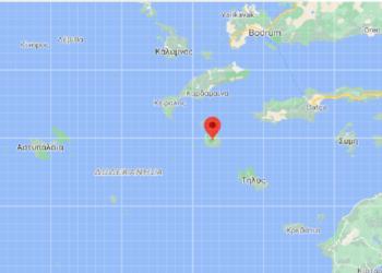 Η Νίσυρος στο χάρτη (φωτ.: google maps)