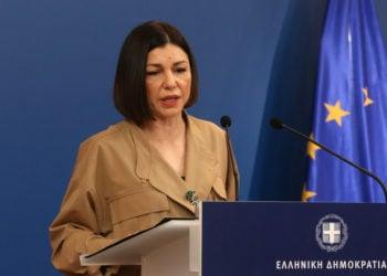 Η κυβερνητική εκπρόσωπος Αριστοτελία Πελώνη (Φωτ. αρχείου: ΑΠΕ-ΜΠΕ/Αλέξανδρος Μπελτές)