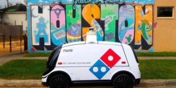 Το αυτόματο όχημα που θα μεταφέρει τις πίτσες (φωτ.: Domino's Pizza Inc)
