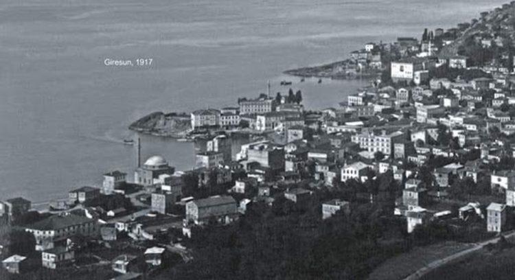 Άποψη της Κερασούντας, το 1917, τη χρονιά που γεννήθηκε η Έλλη (φωτ.: giresunkentkonseyi.org)