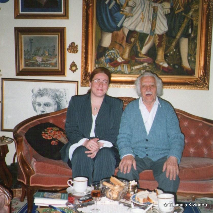 Thomais Kiziridou Evgenios Spatharis sto spiti tou to 2004 1