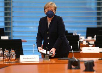 Η Άνγκελα Μέρκελ (φωτ.: EPA/Mika Schmidt / POOL)