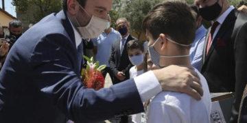 Ο υφυπουργός της Τουρκίας Γιαβούζ Σελίμ Κιράν στη Θράκη (φωτ.: TRT)