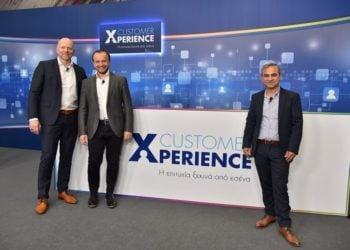 Ο Διευθύνων Σύμβουλος του ΟΠΑΠ, Jan Karas, ο Chief Retail Officer του ΟΠΑΠ, Βάιος Καραντίνος, και ο OPAP Stores Director, Βαγγέλης Γκεβέζος (Φωτ.:  ΟΠΑΠ)