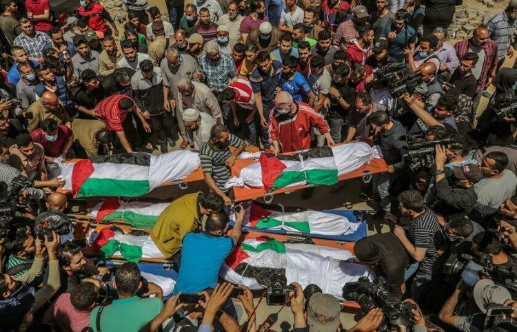 Παλαιστίνη, 15/05/2021(φωτ.: ΑΠΕ-ΜΠΕ/ EPA/ Mohammed Saber)