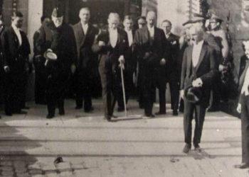 Ελευθέριος Βενιζέλος και Μουσταφά Κεμάλ στην Άγκυρα το 1930 (πηγή: Ιστορικά Αρχεία Μουσείου Μπενάκη)
