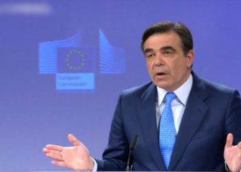 Μαργαρίτης Σχοινάς, Ευρωπαίος Επίτροπος και Αντιπρόεδρος της Κομισιόν. (φωτ.: https://twitter.com/amna_news/status)