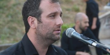 Ο Αλέξης Στεφανίδης στην εκδήλωση «Η Πόλις Εάλω», στις 29 Μαΐου 2021, στους Κήπους του Πασά, στην εκδήλωση της αντιδημαρχίας κοινωνικής πολιτικής του Δήμου Θεσσαλονίκης (φωτ.: Φίλιππος Φασούλας)