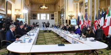 Οι υπουργοί Οικονομικών της G7 συναντήθηκαν στο Λονδίνο (φωτ.: EPA / Andy Rain)