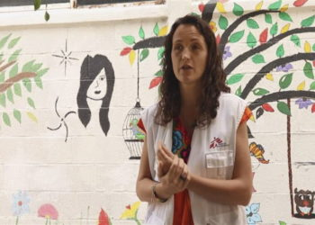 Η Μαρία Χερνάντεζ, μία από τα τρία θύματα (φωτ.: ΕPA/ MSF Handout)