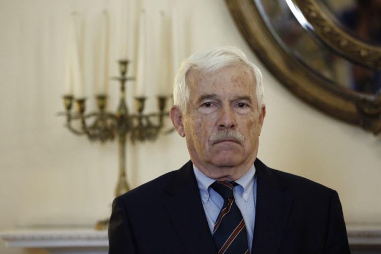 Ο πρόεδρος του Ιδρύματος Αικατερίνης Λασκαρίδη, Παναγιώτης Λασκαρίδης (φωτ.: ΑΠΕ-ΜΠΕ / Γιάννης Κολεσίδης)