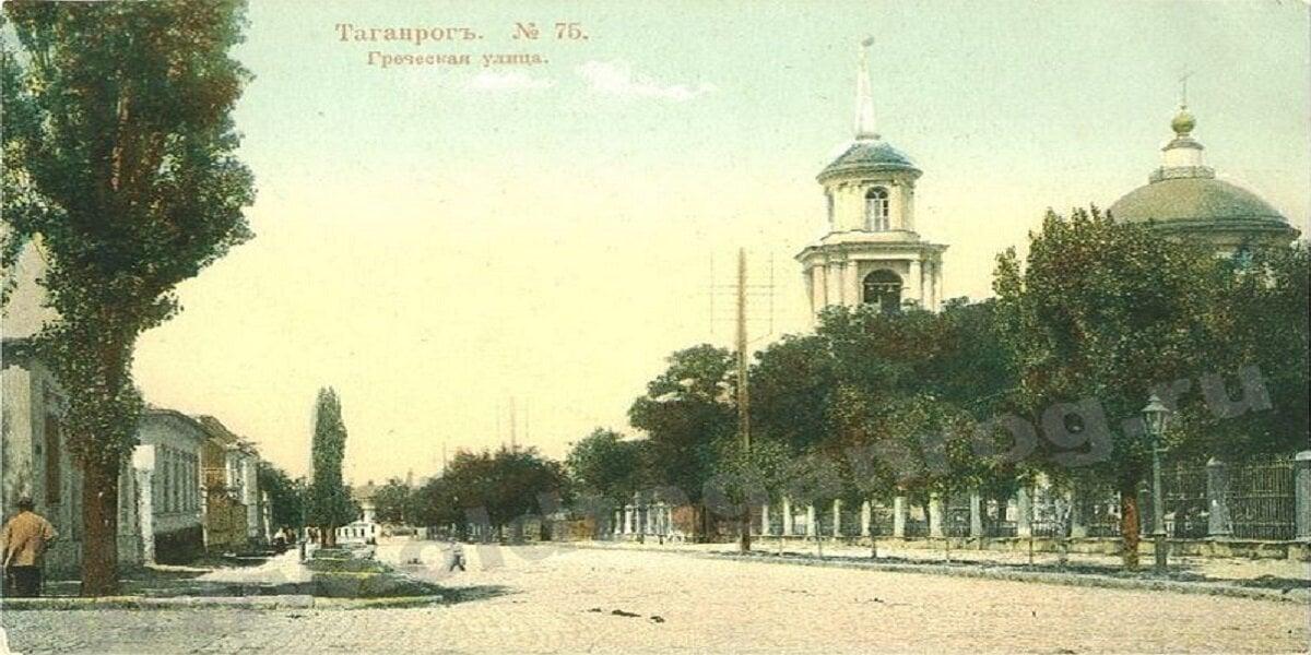 Ελληνική οδός του Ταϊγανίου στην αρχή του 20ου αιώνα (φωτ.: wikipedia)