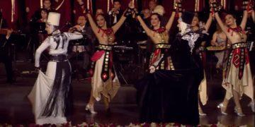 Στιγμιότυπο από αρμενική συναυλία όπου αποδίδεται ο χορός ταμζαρά ή τάμζαρα στα ποντιακά (Πηγή: YouTube)