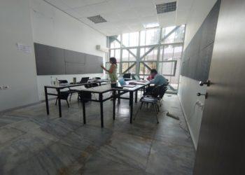 Από τα γραφεία της παραγωγής (φωτ.: ΑΠΕ-ΜΠΕ)