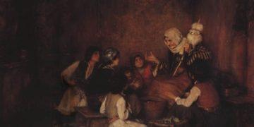 Ο πίνακας «Το παραμύθι της γιαγιάς» του Νικόλαου Γύζη, που διάλεξε η διαδικτυακή ομάδα «Από την Κοκκινιά στη Νίκαια» για την εκδήλωση «Στον Κήπο με τα Παραμύθια»