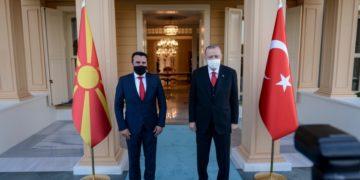 Στιγμιότυπο από τη συνάντηση Ερντογάν-Ζάεφ (φωτ.: facebook.com/zaevzoran)