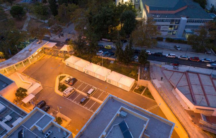 Το νοσοκομείο ΑΧΕΠΑ από φωτογραφία drone (φωτ.: ΑΠΕ-ΜΠΕ/ Νίκος Αρβανιτίδης)