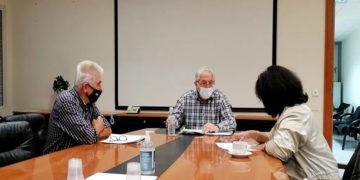 Στιγμιότυπο από τη συνάντηση (φωτ.: Δήμος Αμαρουσίου)