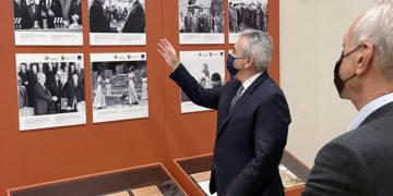 Ένα μεγάλο μέρος της Έκθεσης καλύπτει τις ελληνορωσικές σχέσεις στηνπερίοδο του Ψυχρού Πολέμου (φωτ.: Μάξιμος Χαρακόπουλος)