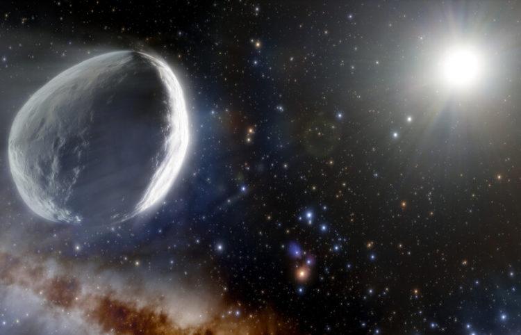 Καλλιτεχνική απεικόνιση) του κομήτη από τους ερευνητές (φωτ.: ΑΠΕ-ΜΠΕ)
