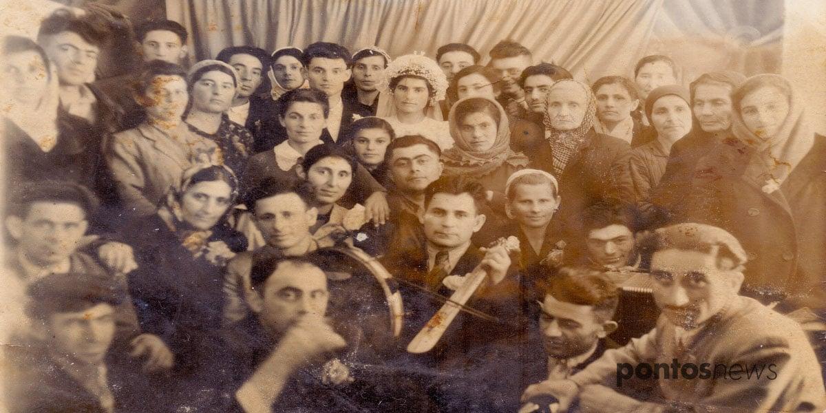 Ποντιακός γάμος στο χωριό Κρασνογκόρκα, περιοχής Κουρντάι, του νομού Ντζαμπούλ στο νότιο Καζακστάν στο τέλος της δεκαετίας του 1950 (αρχείο του Β. Τσενκελίδη)