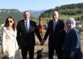 Oι Ρετζέπ Ταγίπ Ερντογάν και Ιλχάμ Αλίεφ με τις συζύγους τους στην πόλη-σύμβολο του Αρτσάχ, Σουσί (φωτ.: Twitter / Recep Tayyip Erdoğan)