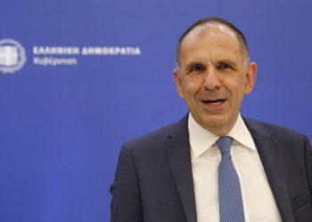 Ο υπουργός Επικρατείας Γιώργος Γεραπετρίτης (φωτ.: ΑΠΕ-ΜΠΕ / Αλέξανδρος Βλάχος)