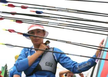 Η 47χρονη πρωταθλήτρια της τοξοβολίας Ευαγγελία Ψάρρα (φωτ.: sports.ert.gr)