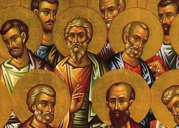 sunaksi dwdeka apostolwn