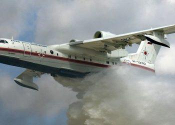 Το ρωσικό Beriev-200 (φωτ.: αρχείο ΑΠΕ-ΜΠΕ)