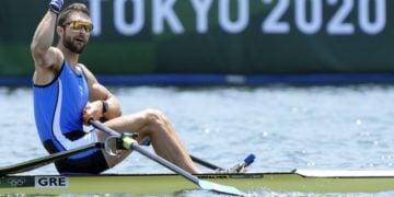 Τρομερή εμφάνιση στον ημιτελικό από τον Στέφανο Ντούσκο (Φωτ.:  EPA/FRANCK ROBICHON)