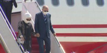 Ο Ερντογάν και Εμινέ, κατά την άφιξή τους στα Κατεχόμενα της Κύπρου