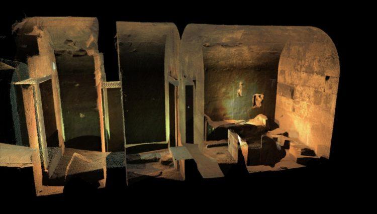 Οι τρεις νεκρικοί θάλαμοι στους οποίους αναφέρεται ο Αθανάσιος Μπίντας (φωτ.: GEOKAT)