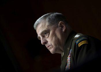 Ο αρχηγός των Ενόπλων Δυνάμεων στις ΗΠΑ στρατηγός Μαρκ Μάιλι (φωτ.:EPA/CAROLINE BREHMAN / POOL)