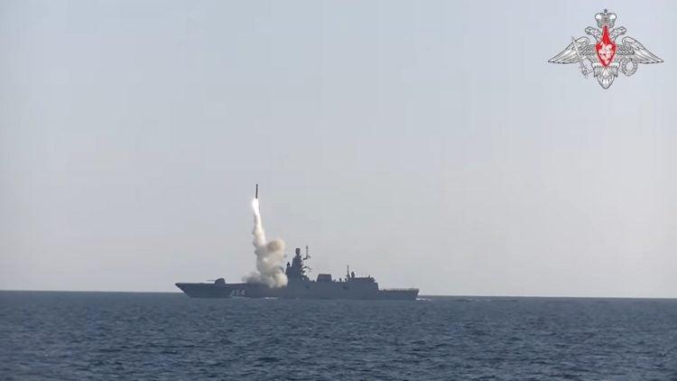 Στιγμιότυπο από την εκτόξευση του πυραύλου Zircon (πηγή: YouTube)
