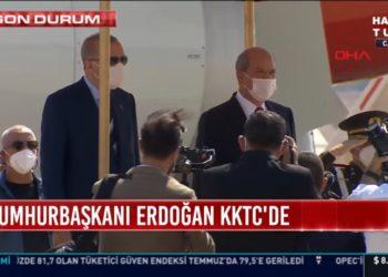 Πλάνο από την άφιξη του Ερντογάν στα κατεχόμενα