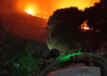 Η φωτιά στη νότια Κεφαλονιά (φωτ.: Facebook / Διονύσης Παπαδάτος)