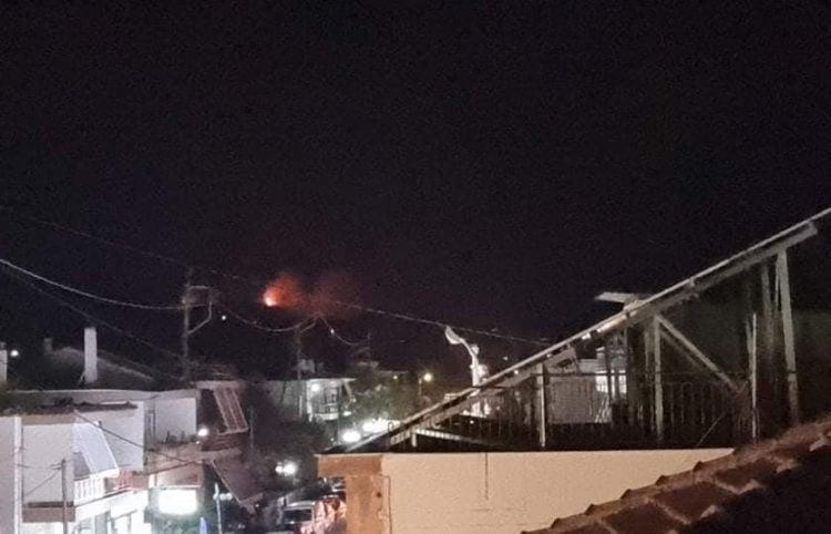 Η φωτιά στη Ζήρια όπως φαινόταν από τα Σελιανίτικα (πηγή: Facebook / Πυρκαγιά ενημέρωση)
