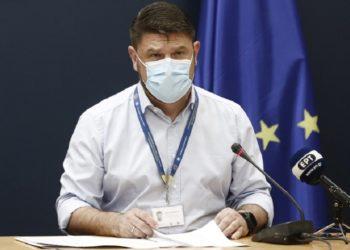 O υφυπουργός Πολιτικής Προστασίας και Διαχείρισης Κρίσεων Νίκος Χαρδαλιάς (φωτ.: ΑΠΕ- ΜΠΕ/Αλέξανδρος Βλάχος)
