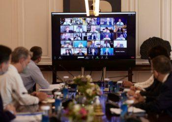 Από τη συνεδρίαση του υπουργικού συμβουλίου όπου παρουσιάστηκαν το νομοσχέδιο με τις τροποποιήσεις του Ποινικού Κώδικα. (φωτ.: ΑΠΕ-ΜΠΕ / Δημήτρης Παπαμήτσος)