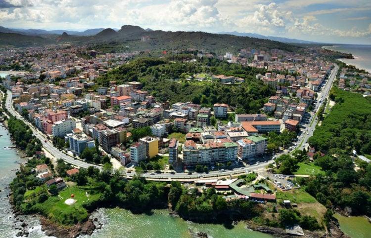 Αεροφωτογραφία της Οινόης (πηγή: Ordu Olay)