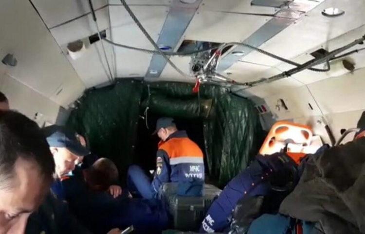 Το αεροπλάνο που συνετρίβη (φωτ.: EPA/ Emercom of Russia Press Service)