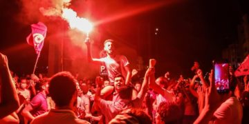 Διαδηλώσεις στην Τυνησία (φωτ.: EPA / STR)