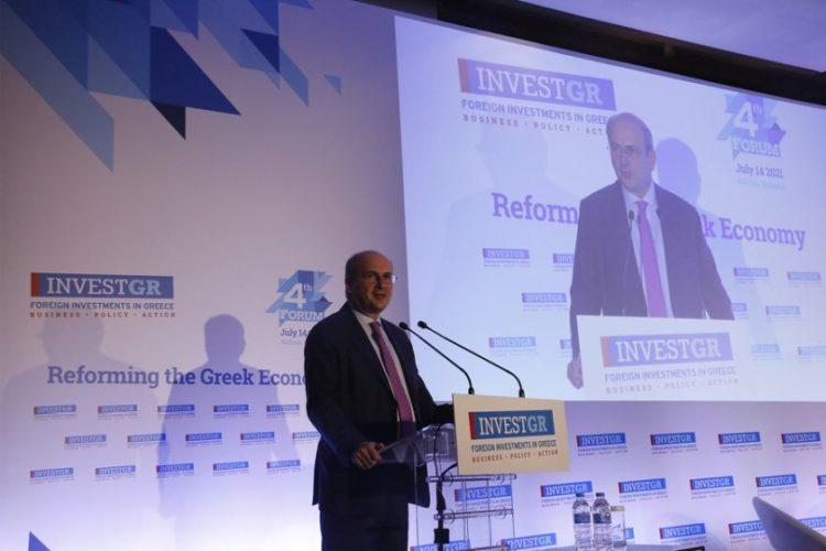 Ο υπουργός Εργασίας και Κοινωνικών Υποθέσεων Κωστής Χατζηδάκης μιλάει στο 4th InvestGR Forum 2021 που γίνεται σε κεντρικό ξενοδοχείο της Αθήνας, Τετάρτη 14 Ιουλίου  2021.  ΑΠΕ-ΜΠΕ/ΑΠΕ-ΜΠΕ/ ΑΛΕΞΑΝΔΡΟΣ ΒΛΑΧΟΣ