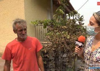 Ο πρόεδρος της κοινότητας Χώρα Γορτυνίας Δημήτρης Δημητρακόπουλος (φωτ.: YouTube)