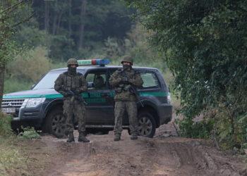 Στα σύνορα Πολωνίας-Λευκορωσίας (φωτ.: EPA/ Artur Reszko Poland out)